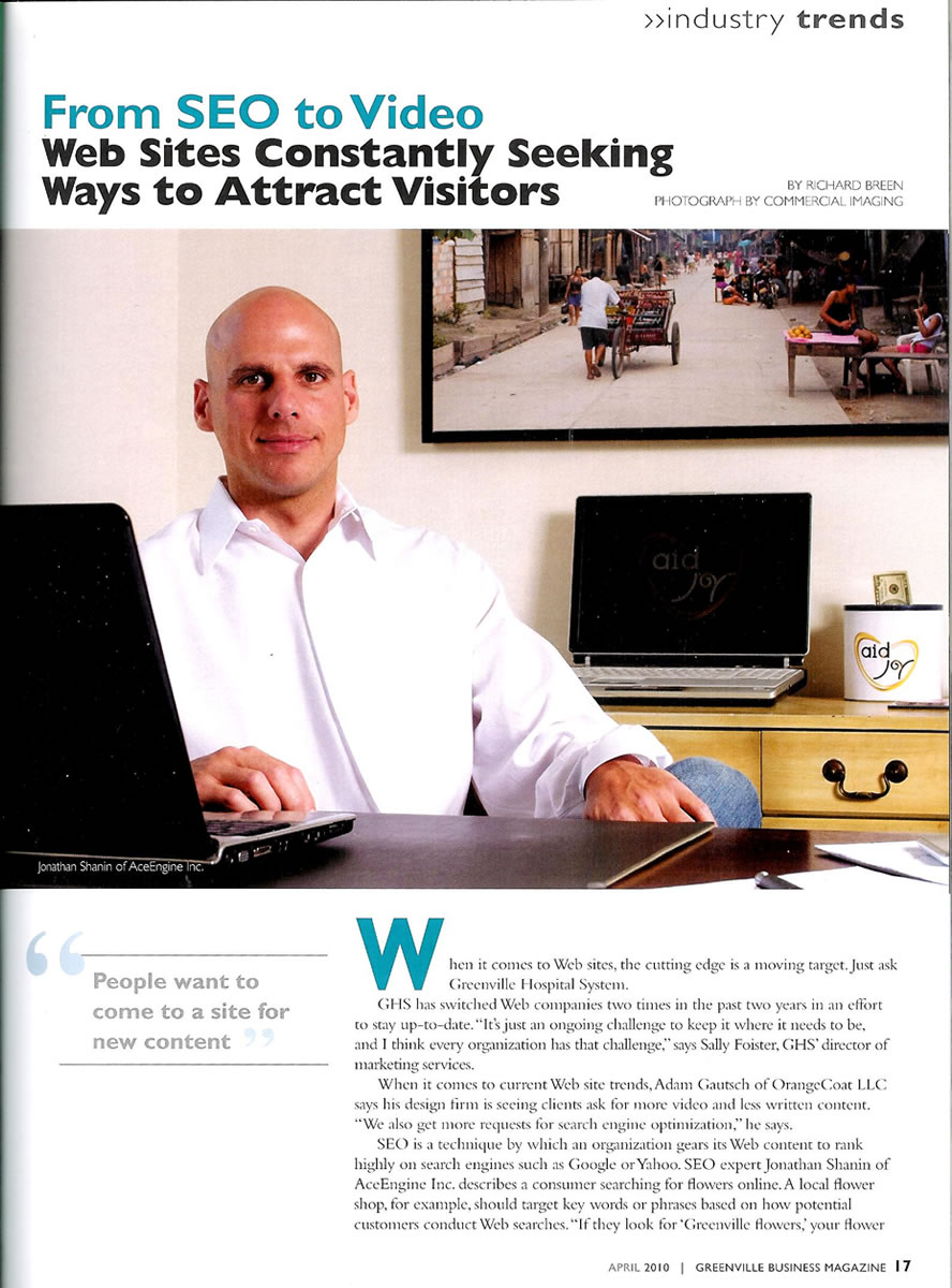 Greenville Business Magazine - From SEO to Video